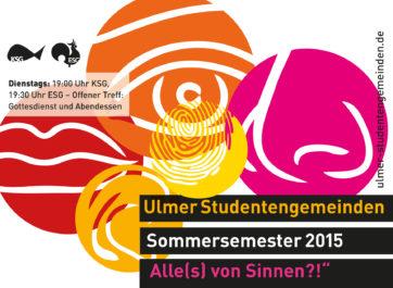 Titelblatt Sommersemester 2015